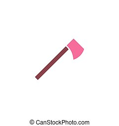 Tomahawk Icon Vector. Flat simple color pictogram
