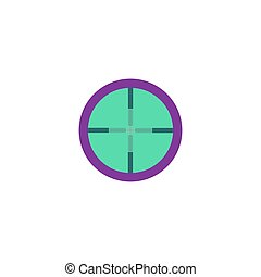 Target Icon Vector Flat simple color pictogram