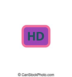 HD Icon Vector Flat simple color pictogram
