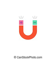 Magnet Icon Vector. Flat simple color pictogram