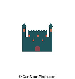 Castle Icon Vector Flat simple color pictogram