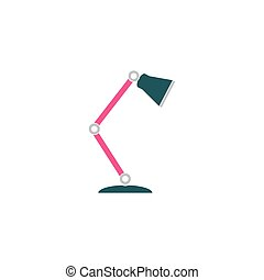 Reading-lamp Icon Vector. Flat simple color pictogram