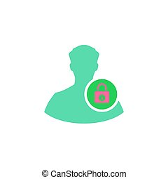 Administrator Icon Vector. Flat simple color pictogram