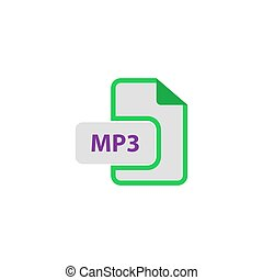 MP3 Icon Vector