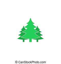 Forest Icon Vector. Flat simple color pictogram
