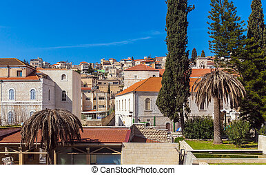 Roofs of Old City in Nazareth, Israel