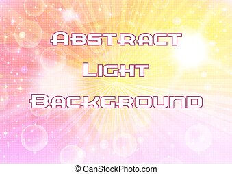 Abstract Pink and Yellow Background with Light Sparks, White...