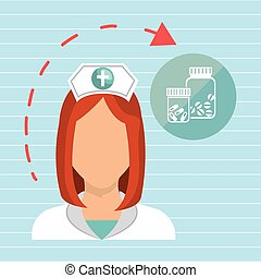 nurse health care service vector illustration eps 10