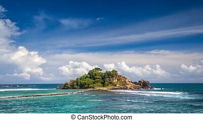 Tropical island. 4k, 25fps - Tropical remote island in the...