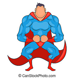 Super hero ready to fly icon, cartoon style - Super hero...