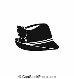 Irish hat icon, simple style - Irish hat icon in simple...