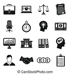 Banking icons set, simple style - Banking icons set in...