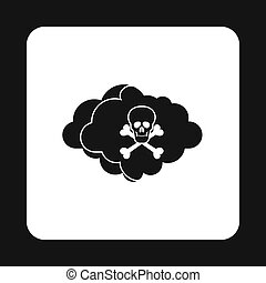 Deadly air icon, simple style - Deadly air icon in simple...