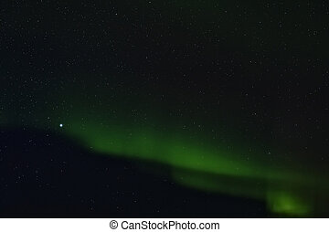 Faint glow of the Northern Lights, Iceland - Faint glow of...