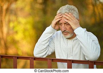 Senior man thinking - Portrait of a senior man thinking...