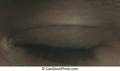 Macro close up of the eye - Macro close up of the mans eye