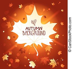 Wonderful autumn backdrop with place for text
