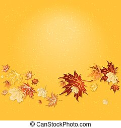 Yellow fall background