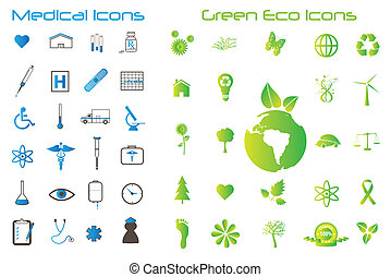 Eco and Medical Icons