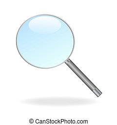 Image of a magnifying glass isolated on a white background.