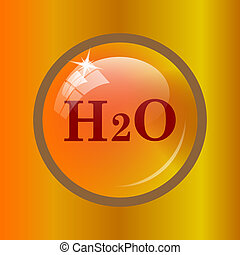 H2O icon Internet button on colored background