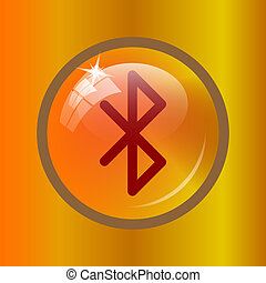 Bluetooth icon. Internet button on colored background.