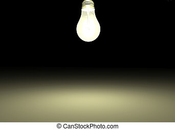 Light Bulb - Image of a light bulb against a dark background...