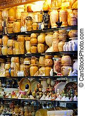 Market shop - Souvenir shop in Cairo on Khan el Khalili...