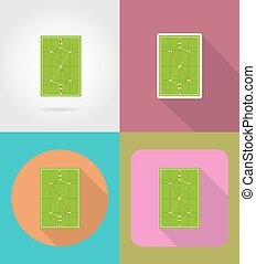 playground for croquet flat icons vector illustration...
