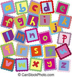 alfabeto, letras, fundo