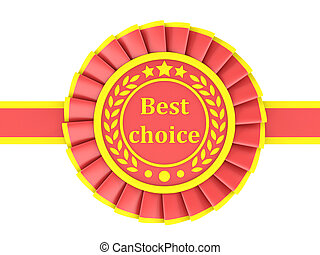 Red Ribbon Award labeled the best choice. 3D rendering
