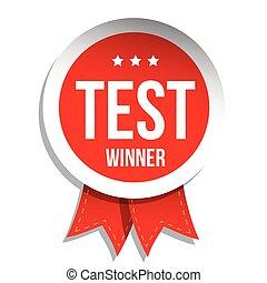 Test Winner badge vector