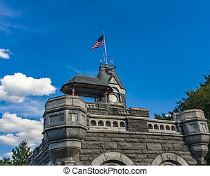 Belvedere Castle in New York City - Detail of the Belvedere...