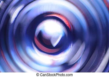 azul, círculos, concéntrico,  Defocused