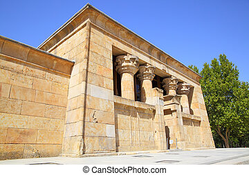 Temple of Debod in Madrid - Main building of ancient...