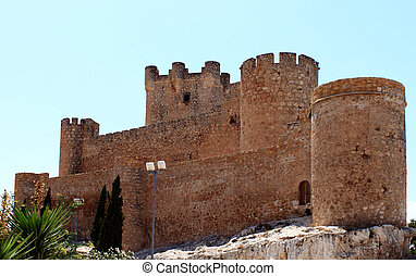 castle villena - castle of villena alicante
