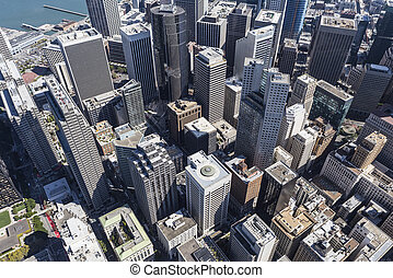 Afternoon Aerial View of San Francisco Central Business District
