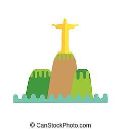 Rio De Janeiro Flat Background Vector - Rio de Janeiro flat...