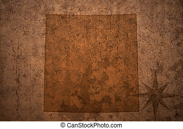colorado state map on a old vintage crack paper background