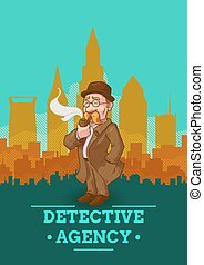 Detective Agency Poster - Detective agency poster with...