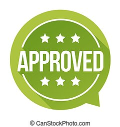 Approved sign vector badge