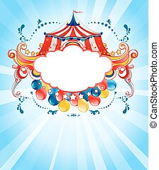 Bright circus background