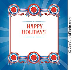 Festive background national colors - Festive background with...