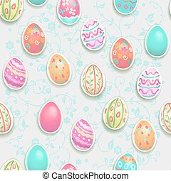 Easter holiday pattern - Easter holiday seamless pattern and...