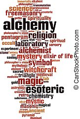 Alchemy-vertical.eps - Alchemy word cloud concept. Vector...