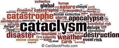 Cataclysm-horizon.eps - Cataclysm word cloud concept. Vector...