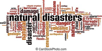 Natural disasters.eps - Natural disasters word cloud...