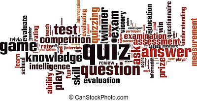 Quiz.eps - Quiz word cloud concept. Vector illustration