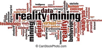 Reality mining.eps - Reality mining word cloud concept....