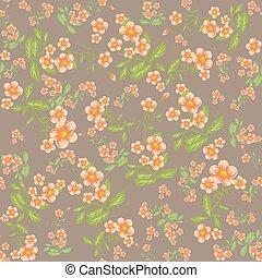 Orange flowers pattern